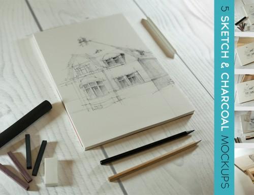 Mockup do grafiki, rysunków i twórców storyboardów